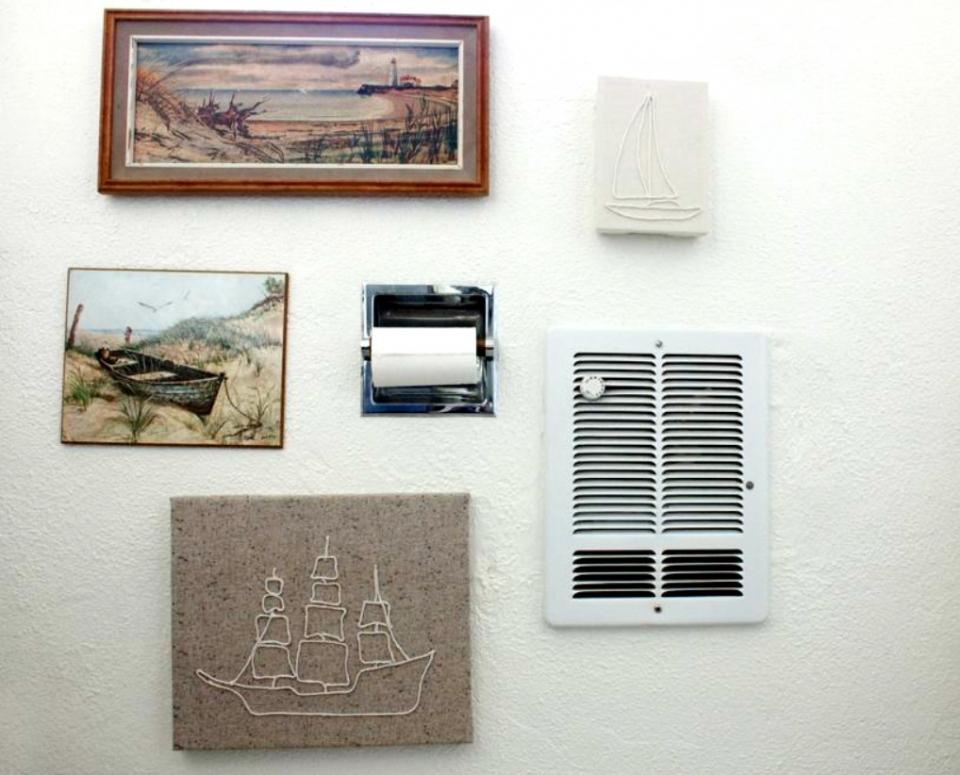 Декоративное панно в виде корабля (1)