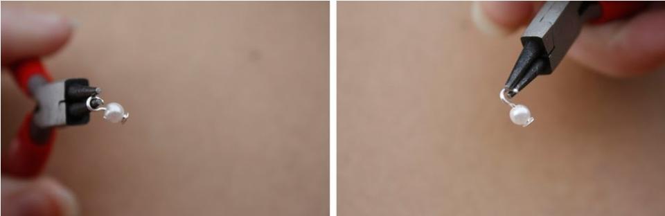 Серьги из атласа, кружева и бисера (5)