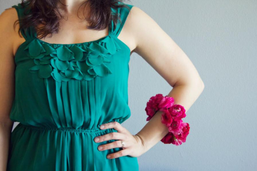 Цветочный летний браслет (9)