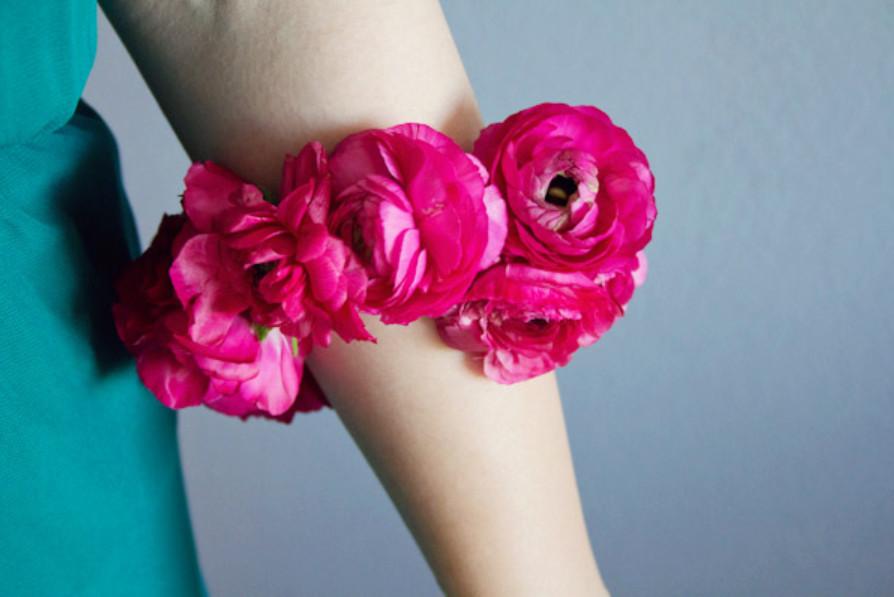 Цветочный летний браслет (2)