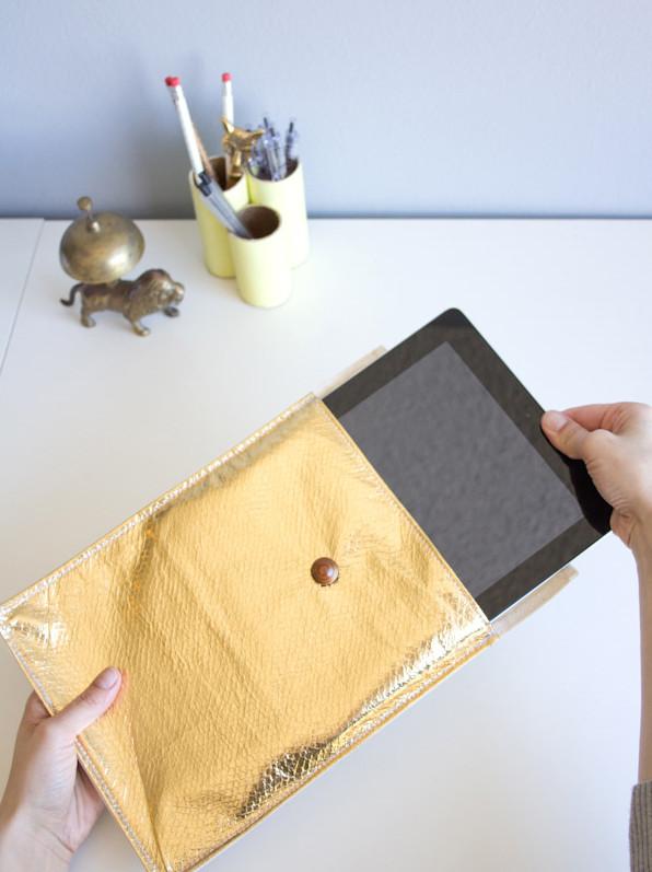 Золотой чехол для планшета (10)