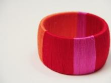 Браслет в красно-розовой гамме (5)