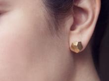 Серьги-пусеты золотого цвета (7)