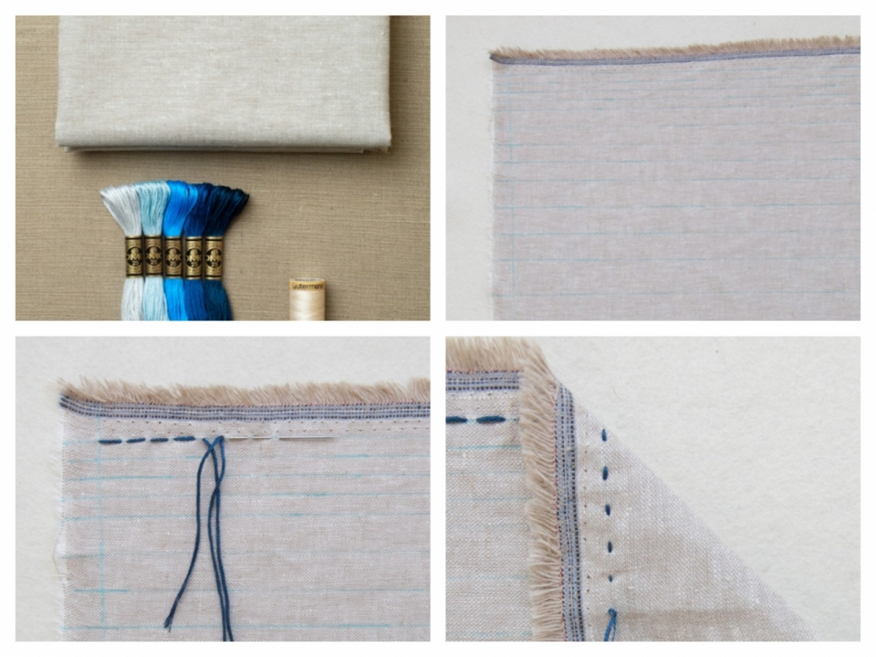 Льняной шарф в бохо-стиле (4)