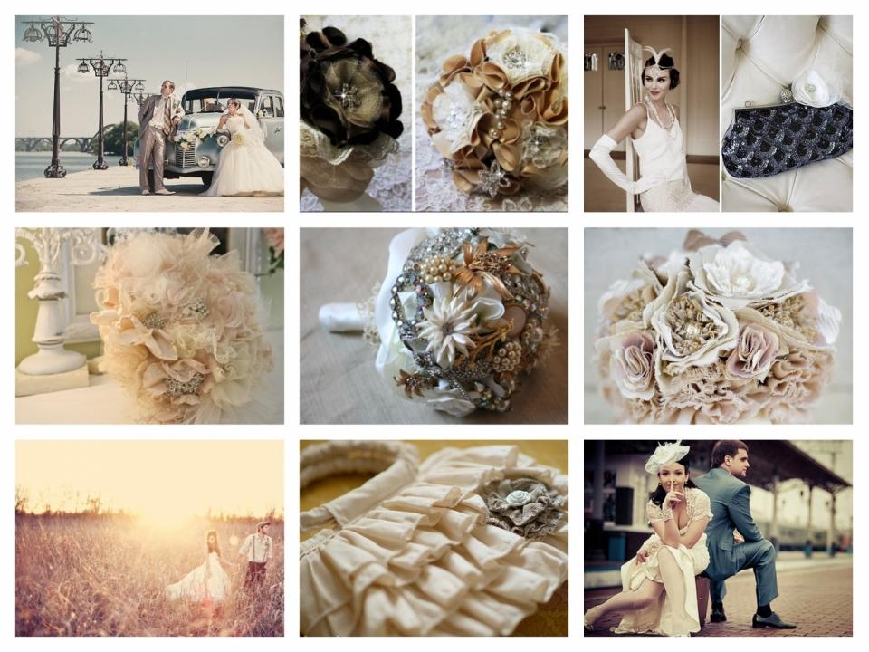 Свадебный букет в стиле винтаж (11)