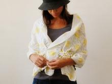 Оригинальный летний шарф-палантин из хлопка (2)