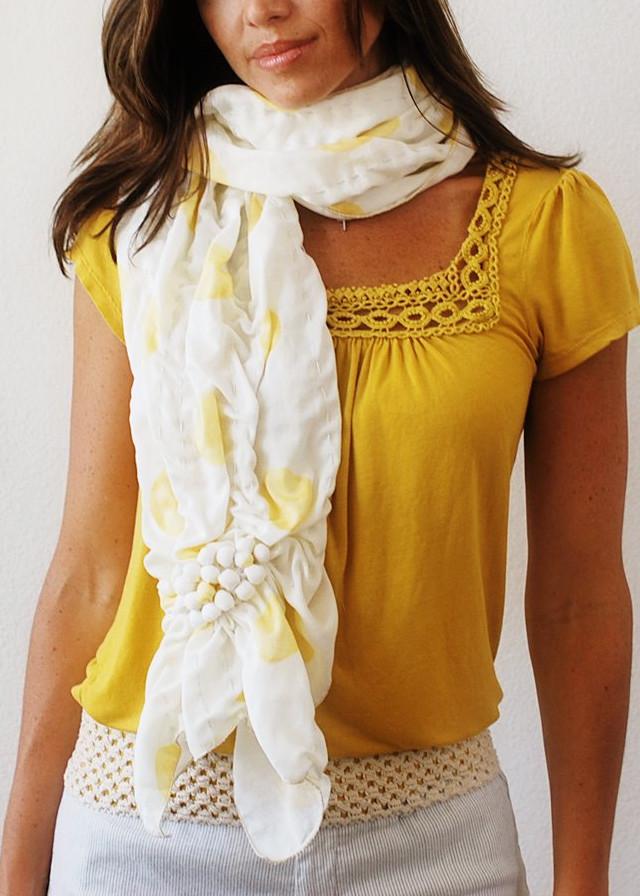 Оригинальный летний шарф-палантин из хлопка (1)