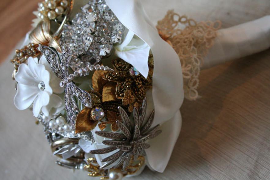 Свадебный букет в стиле винтаж (8)