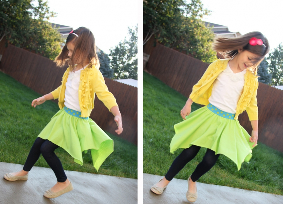 Для начинающих шить: детская юбка (8)