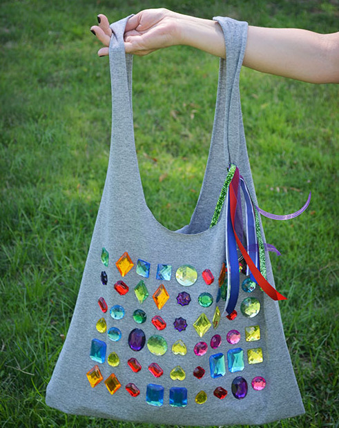 Сумка-торба из трикотажной футболки (1)