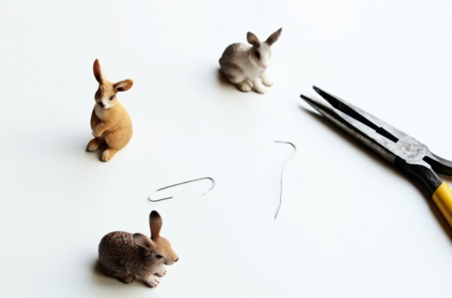 Держатели визиток в виде зайцев (4)