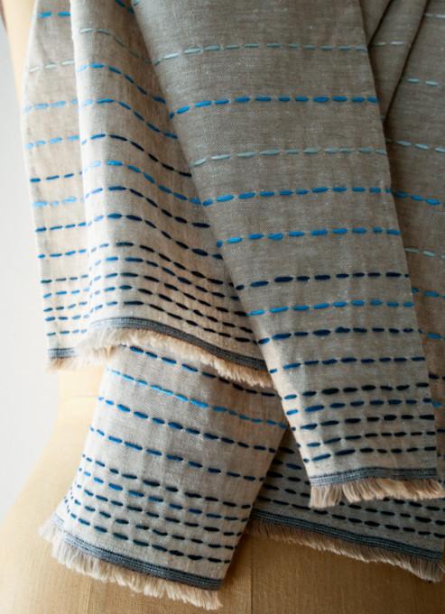 Льняной шарф в бохо-стиле (1)