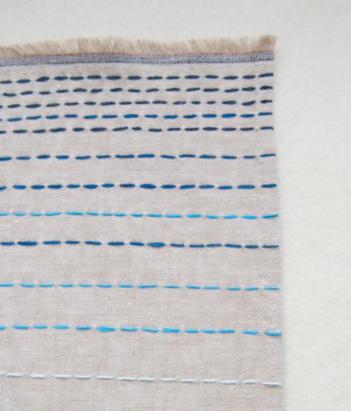 Льняной шарф в бохо-стиле (6)