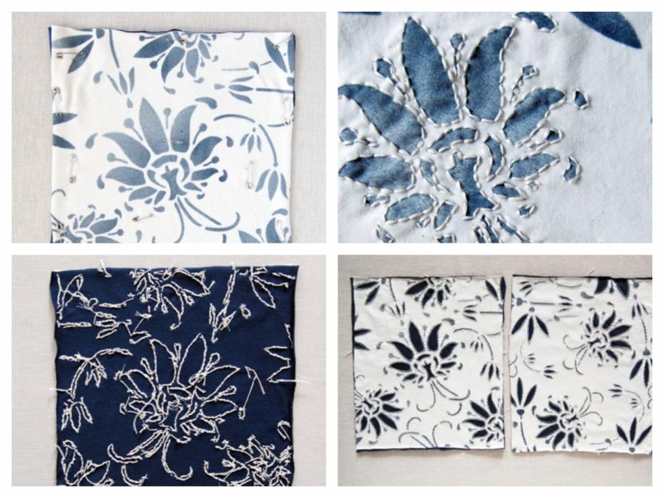 Текстильная сумка с рисунком Гжель (5)