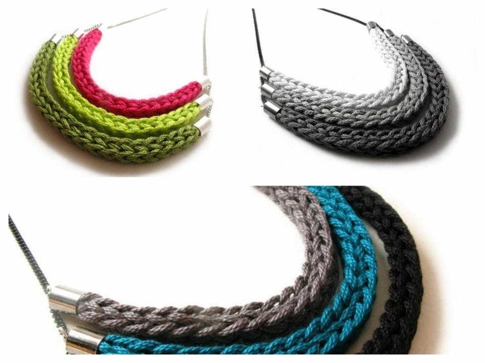 Украшение из вязаных шнуров