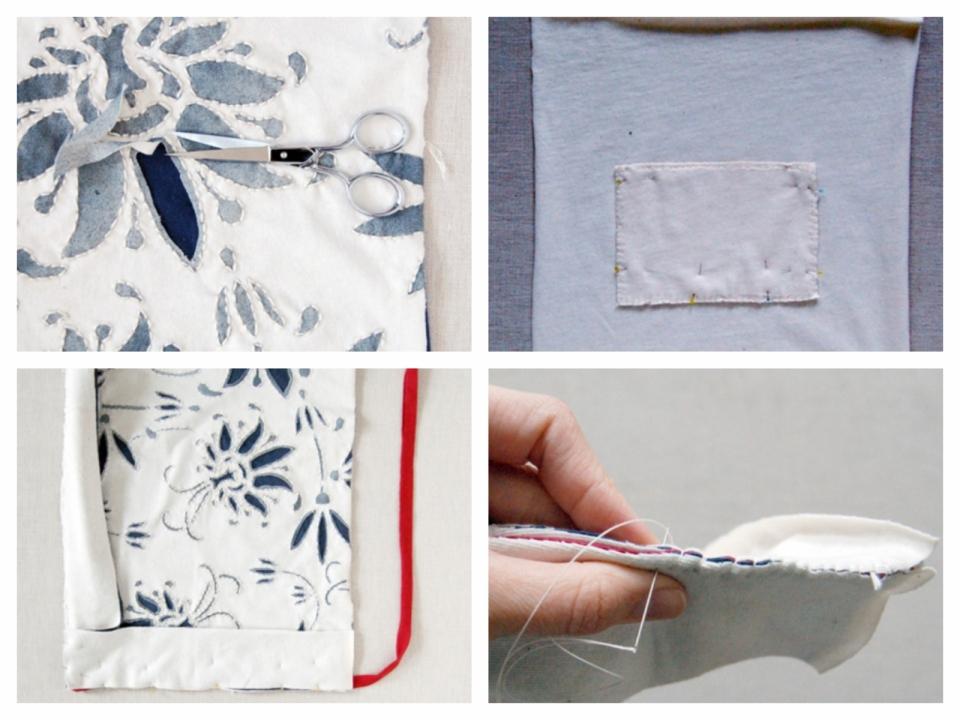 Текстильная сумка с рисунком Гжель (4)