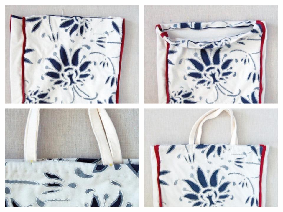 Текстильная сумка с рисунком Гжель (3)