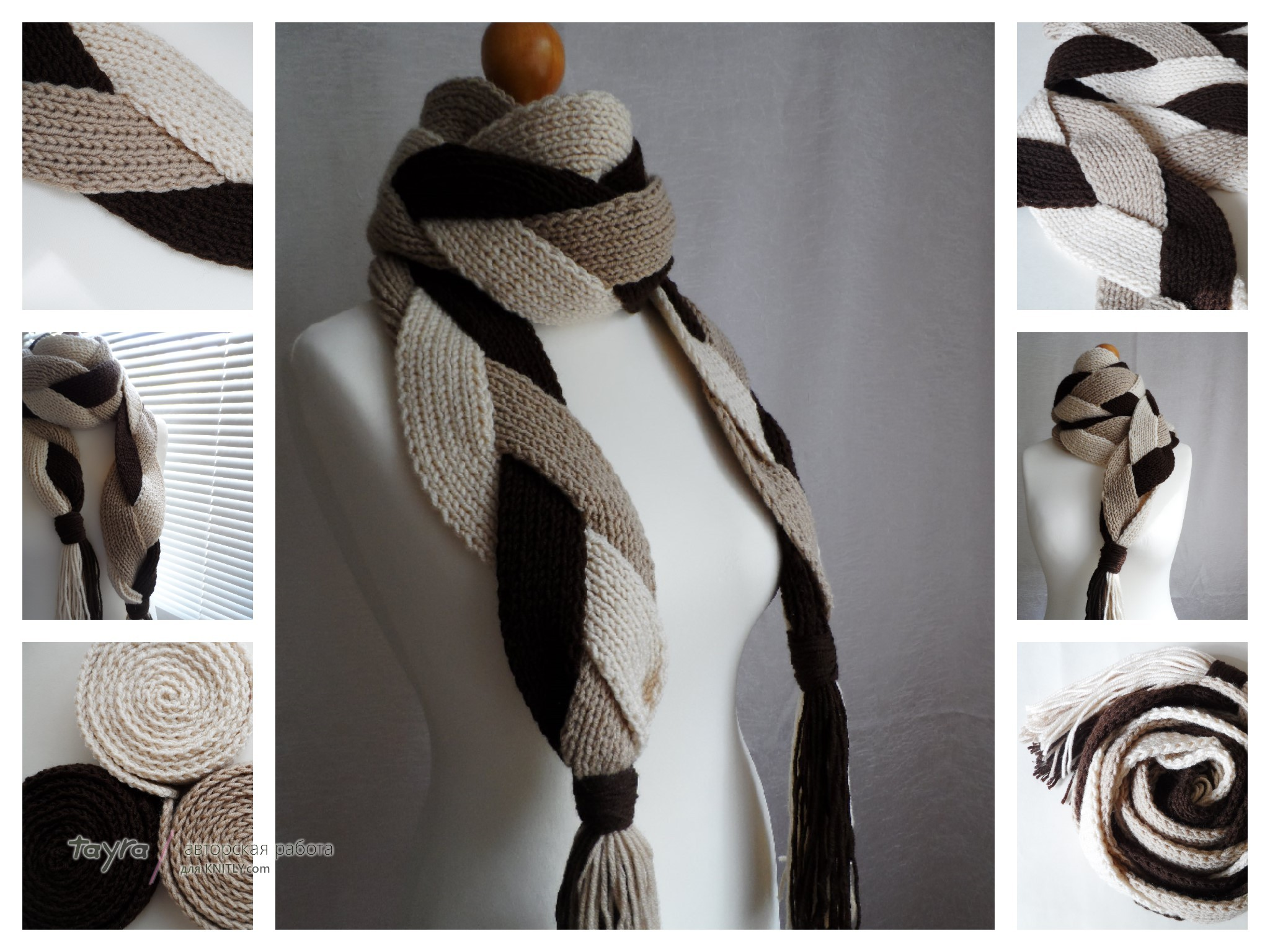 Вязаные модные шарфы своими руками