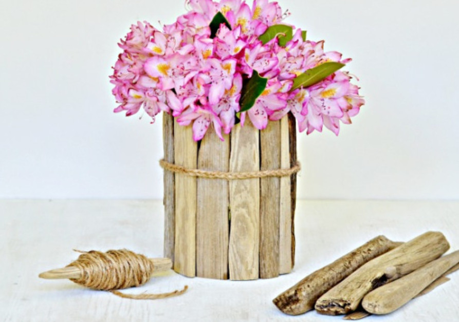 Ваза для цветов в эко-стиле (8)