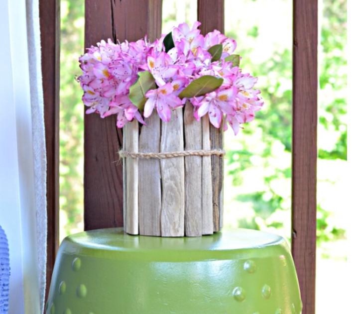 Ваза для цветов в эко-стиле (1)