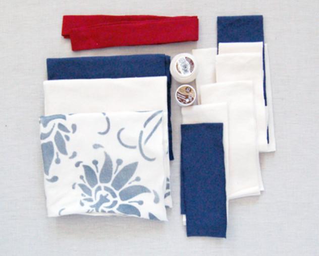 Текстильная сумка с рисунком Гжель (1)