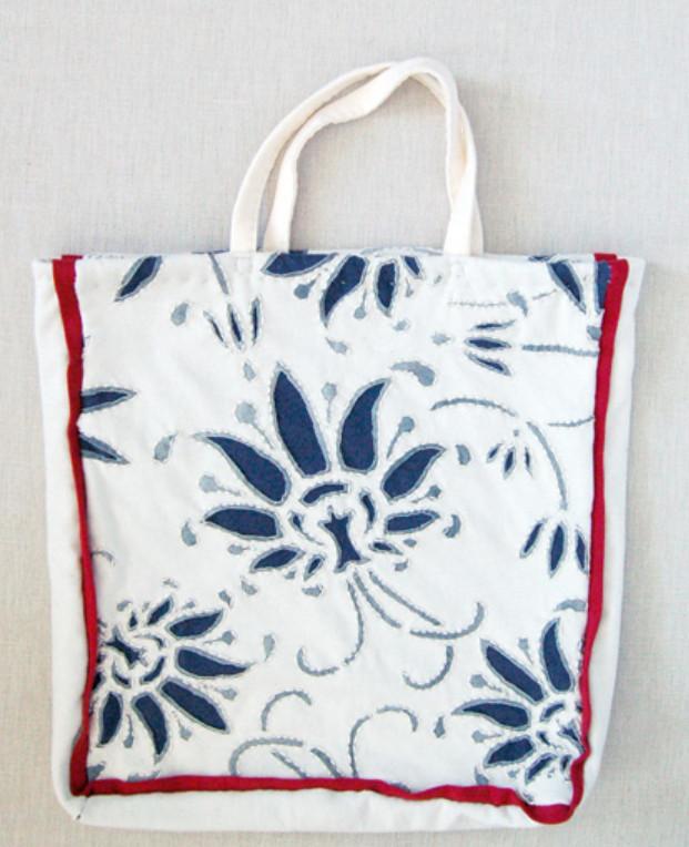 Текстильная сумка с рисунком Гжель (6)