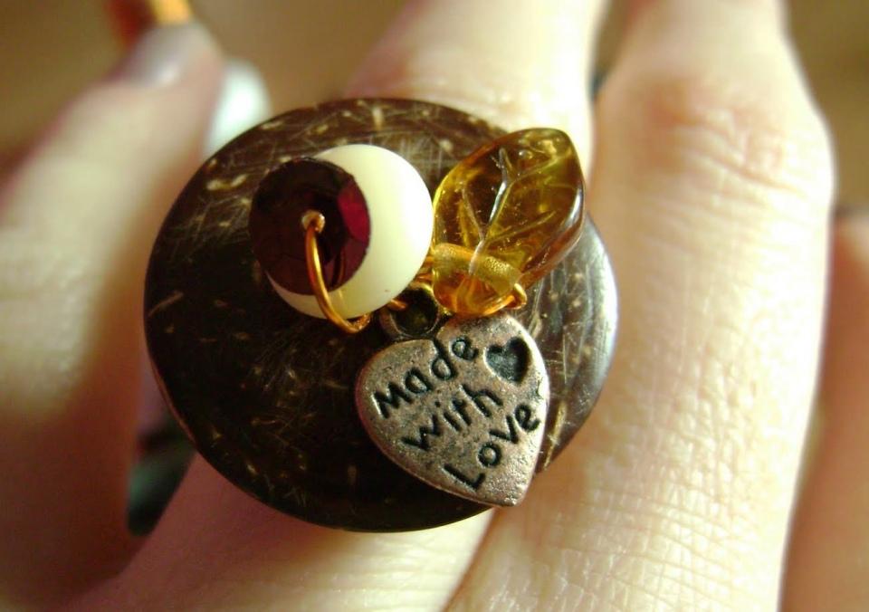 Как сделать кольцо из пуговицы