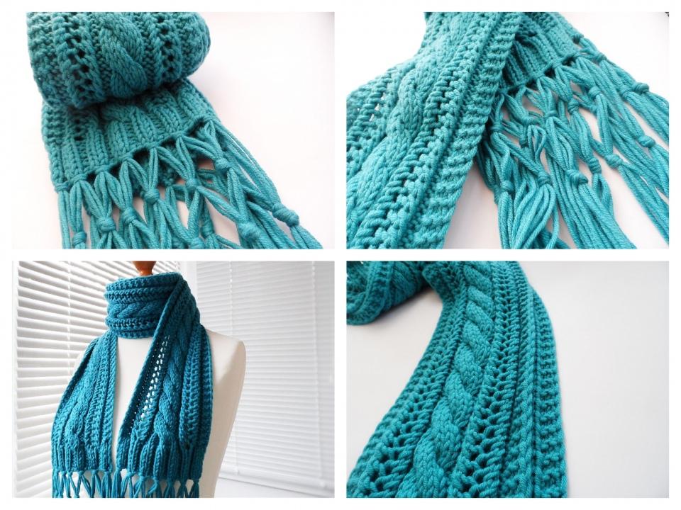 Как связать шарф с красивыми краями