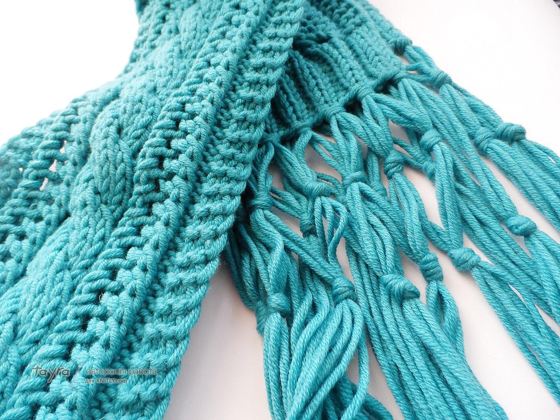 Способы вязания шарфов 21