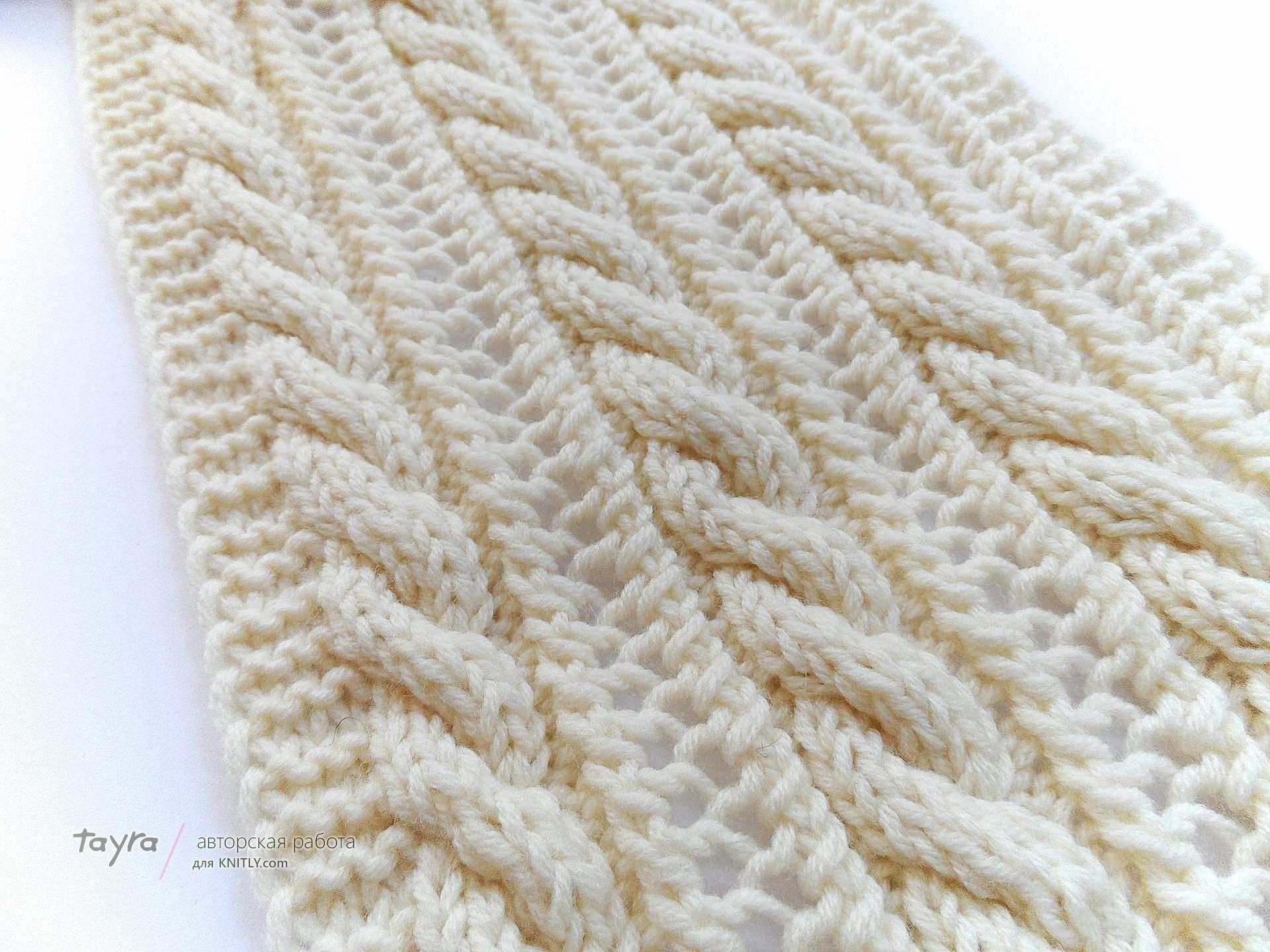 Связать шарф для пальто