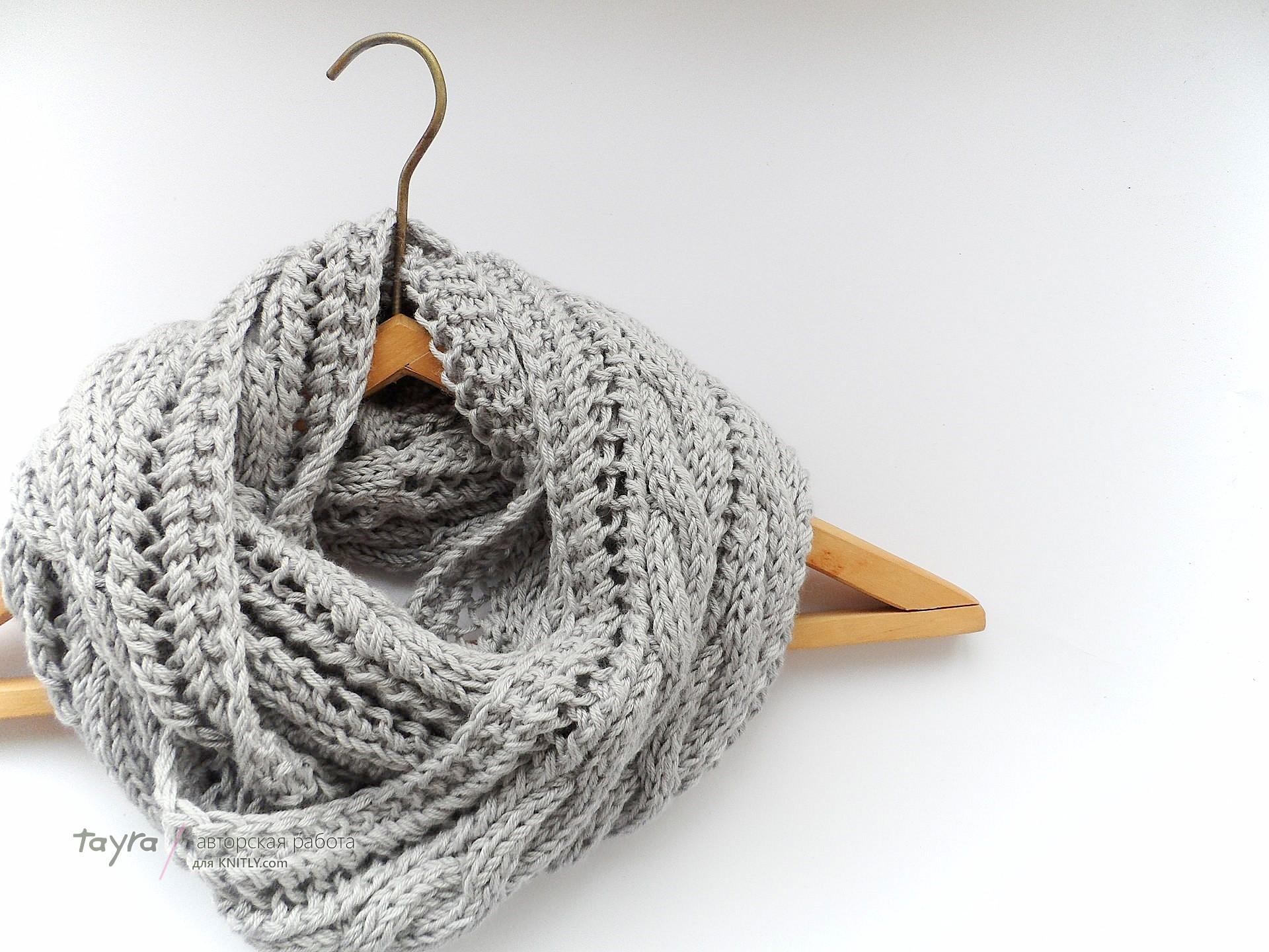 вязание шарфов спицами описание схема