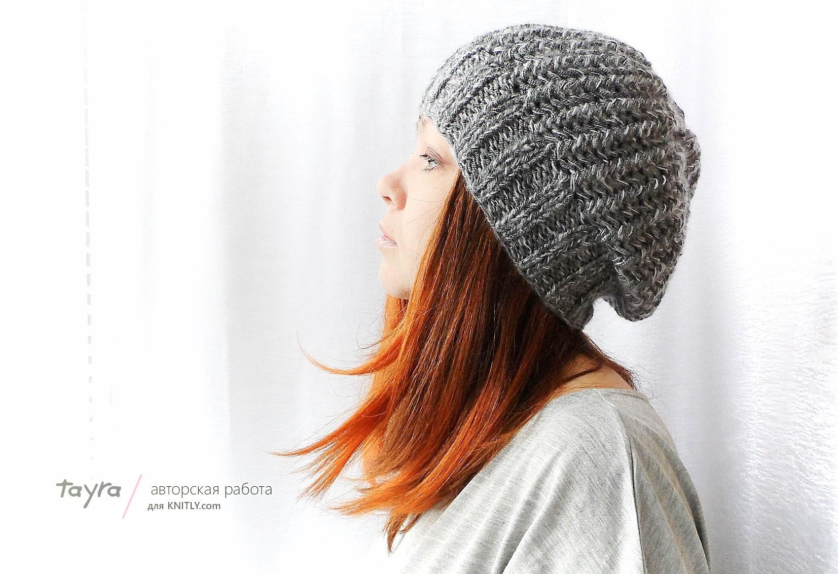 Как сделать вязанною шапку 5