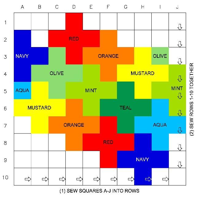 Плед Спиральные квадраты