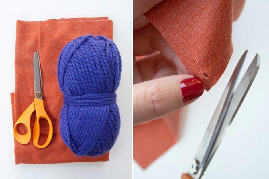 Трикотажный весенний шарф за 15 минут