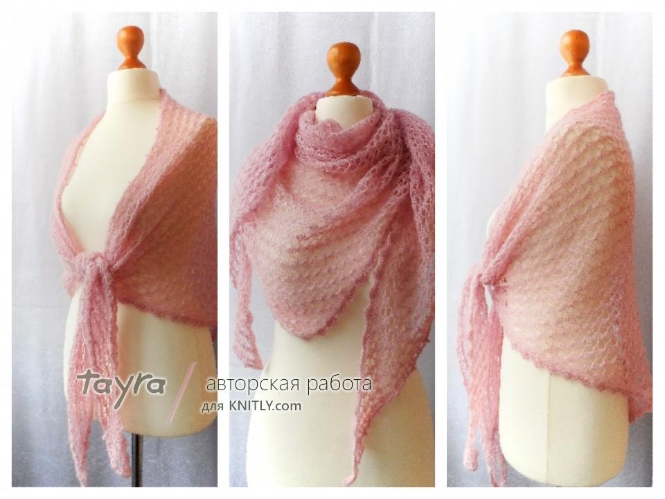 Шаль Нежно-розовая пастель