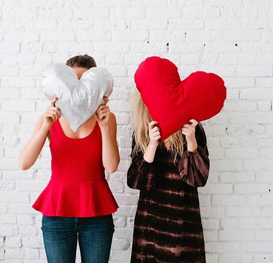 Подушки-сердечки