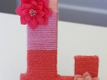 Монограмма своими руками для детской комнаты