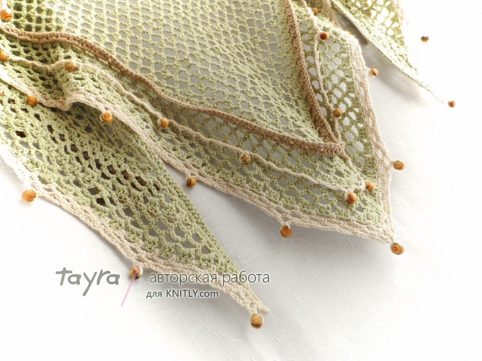 Шаль-платок Green Tea