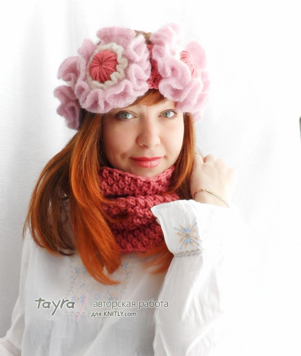 Комплект Квiтка (повязка и шарф-снуд)