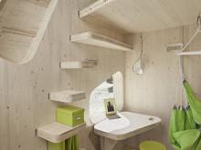 Миниатюрный, мобильный дом для студентов ручной сборки