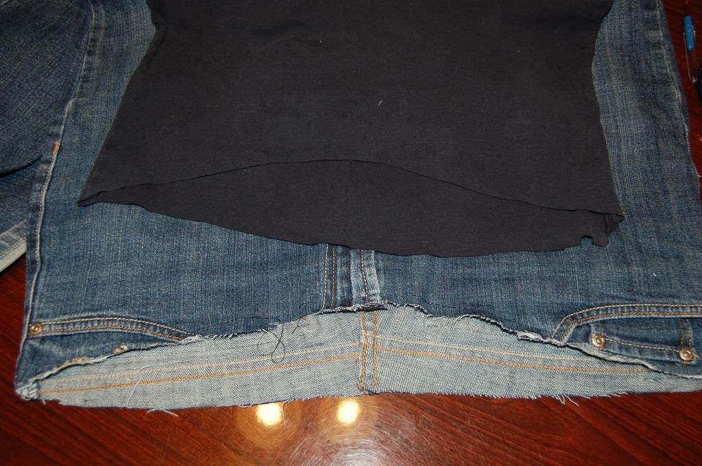 Шьём джинсы для беременных 56