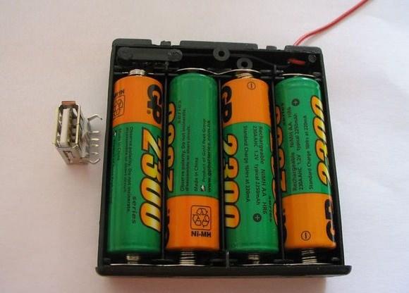 Usb-зарядка для мобильных устройств, работающая от пальчиковых батареек