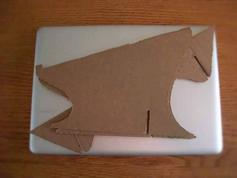 Подставка для ноутбука из картона