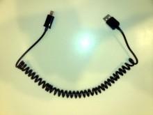 Как скрутить USB-кабель в спираль