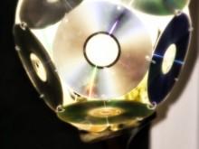 Как сделать абажур из старых компакт-дисков