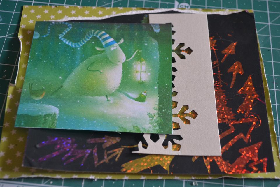 Дедаем новогоднюю открытку другу своими руками