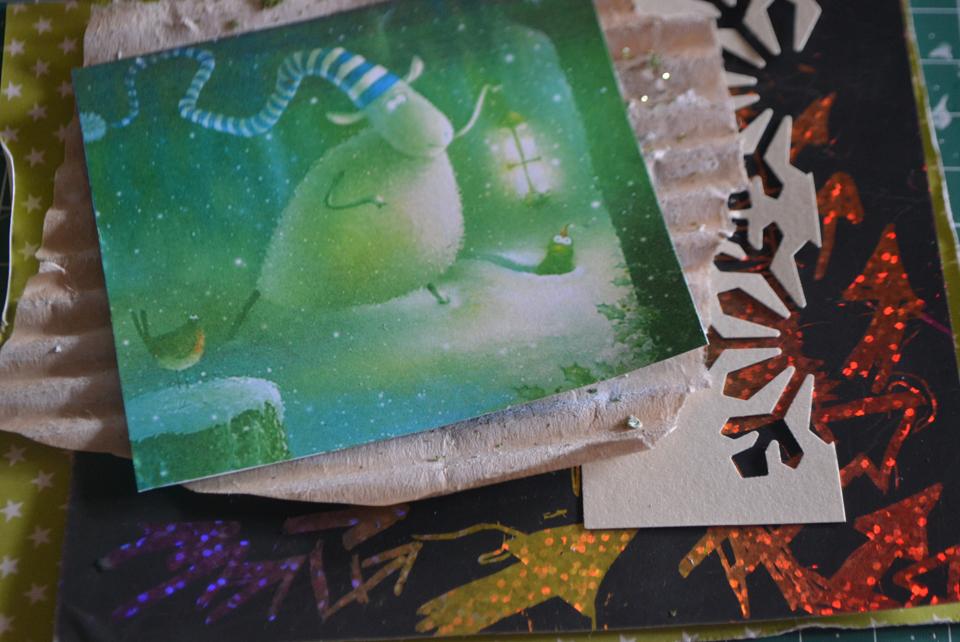 как сделать поэтапно новогоднюю открытку своими руками